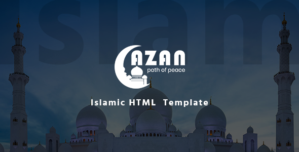 Image of Azan - Islamic Center Responsive HTML Template