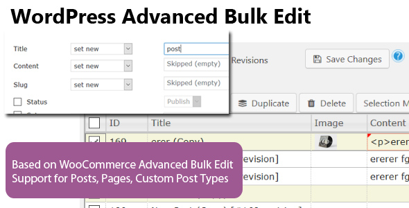 WordPress Advanced Bulk Edit - CodeCanyon Item for Sale
