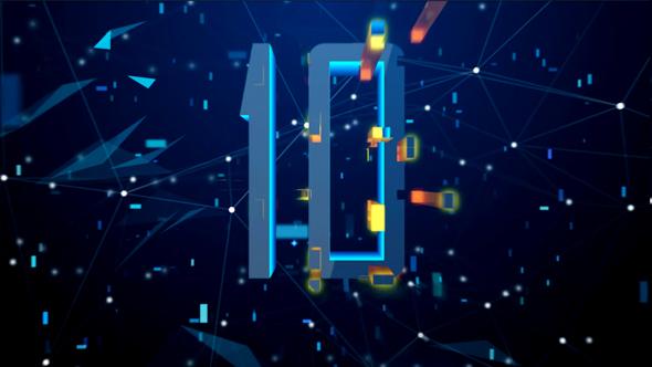 VideoHive High Tech Digital Countdown Blue Version 21166647
