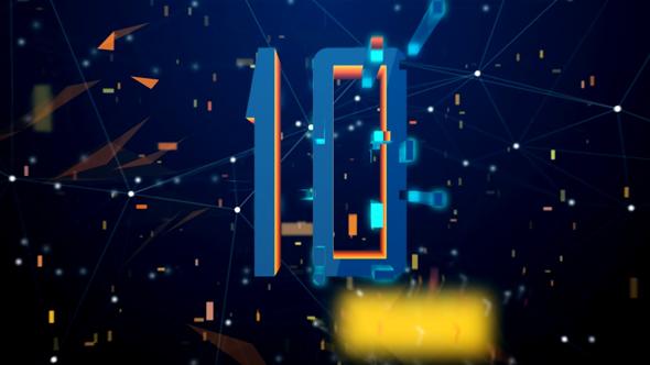 VideoHive High Tech Digital Countdown Golden Version 21166653