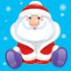 Santa And Snowmen Give Gifts. Vector.
