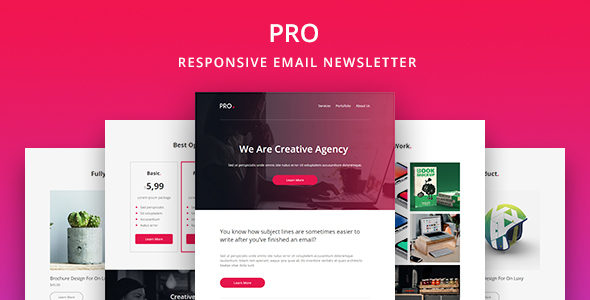 Image of Pro - Agency Email Newsletter Template