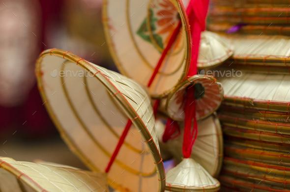 Vietnamese hats - Stock Photo - Images