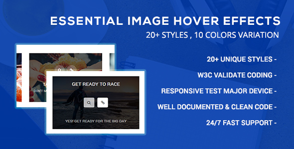 CodeCanyon Essential Image Hover Effects 21167030
