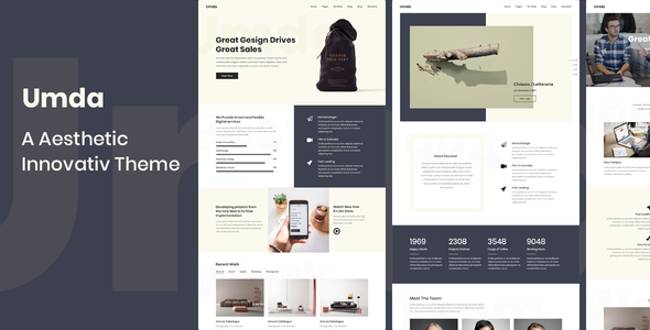 ThemeForest Umda Innovative Multipurpose Creative Template 21167465