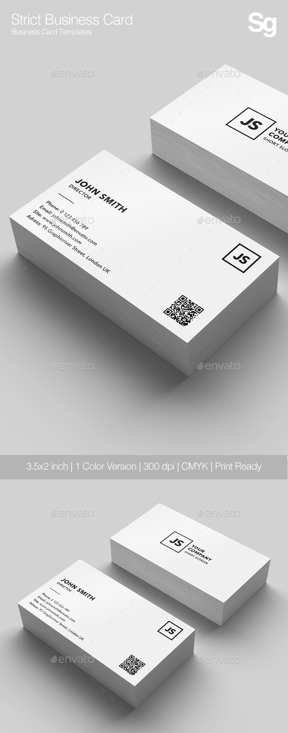 GraphicRiver Strict Business Card 21167685