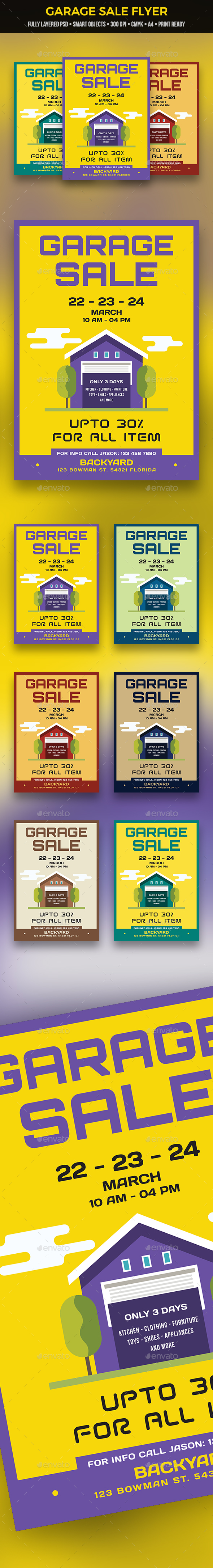 GraphicRiver Garage Sale Flyer 21167703