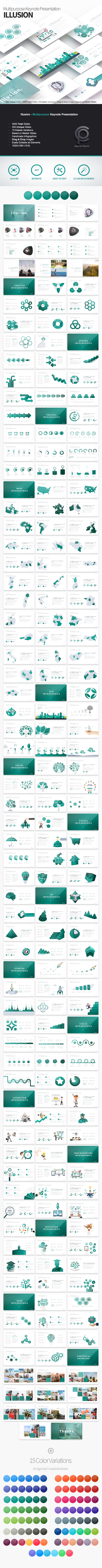 Illusion - Multipurpose Keynote Presentation - Business Keynote Templates
