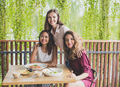 group of three best friend having their lunch together at a cafe - PhotoDune Item for Sale