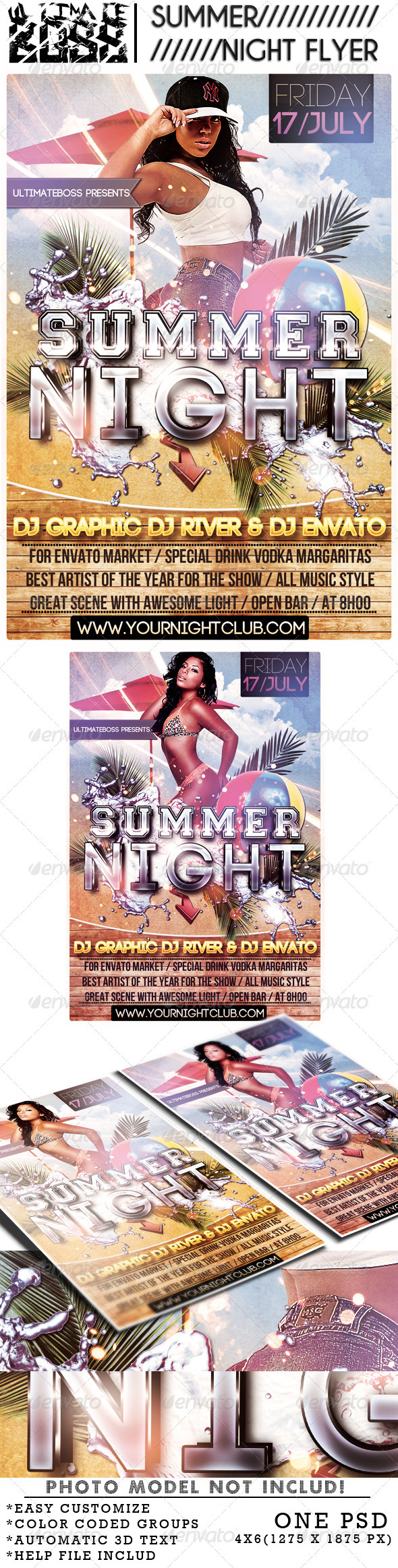 SUMMER NIGHT - Flyers Print Templates