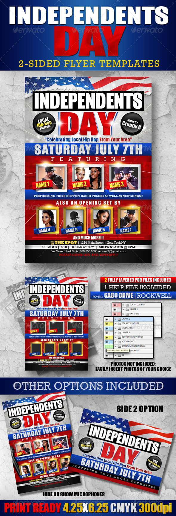 Independents Day Flyer Templates - Events Flyers
