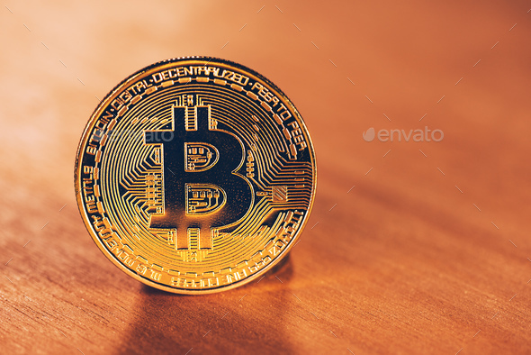 Bitcoin BTC cryptocurrency - Stock Photo - Images