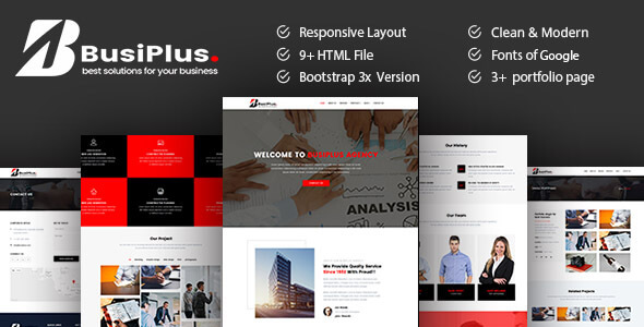 ThemeForest Busiplus Corporate Business HTML5 Template 21168257