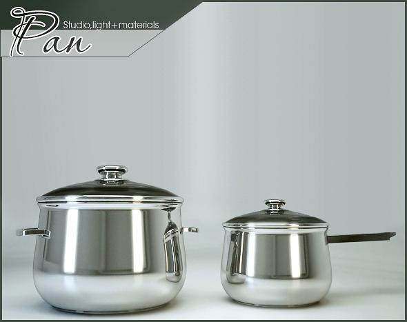 Pan - 3DOcean Item for Sale