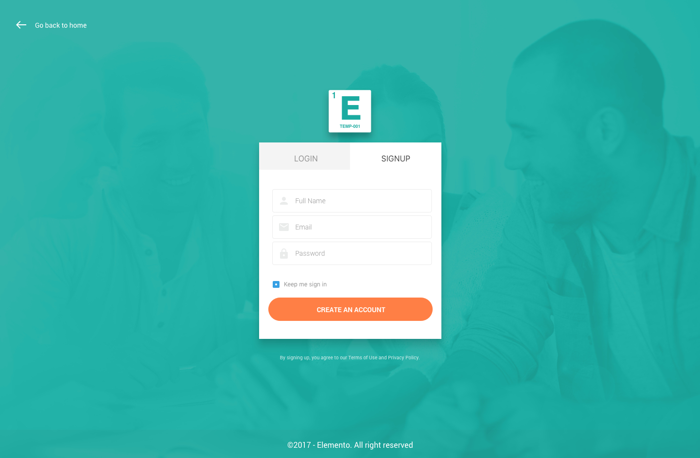 Elemento for Education - Sketch Template by YOYO_LABS