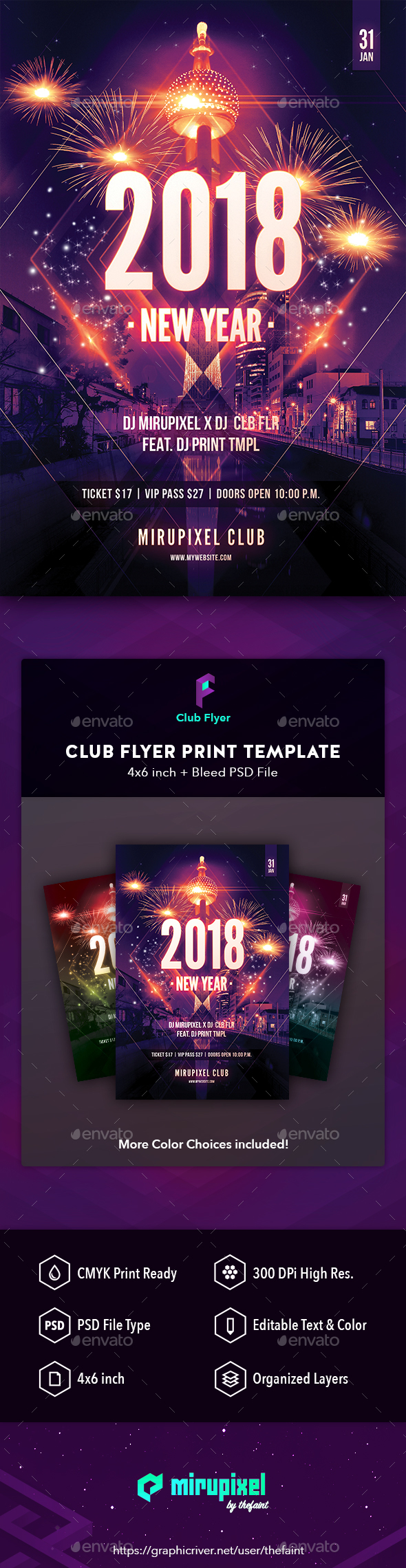 GraphicRiver Club Flyer New Year Celebration 21168427