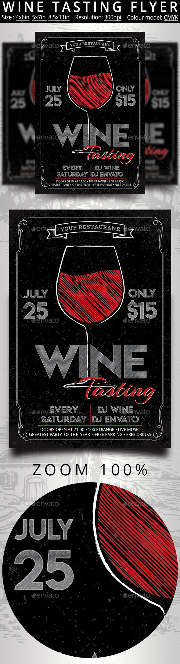 Wine Tasting Festival Flyer And Poster - Events Flyers