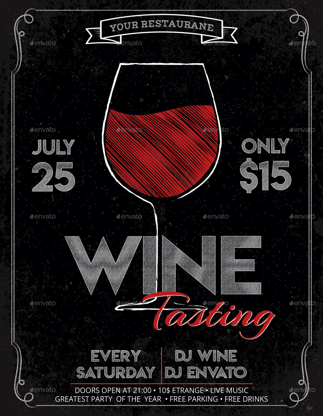Wine Tasting Festival Flyer And Poster