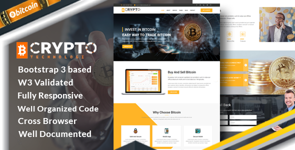 Crypto -  Bitcoin Crypto Currency Template - Business Corporate