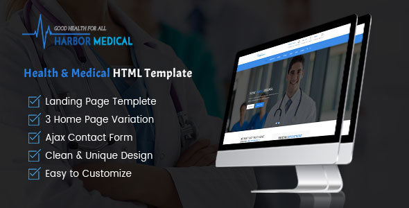 Harbor Medical – Health and Medical Care by TributeTheme | ThemeForest