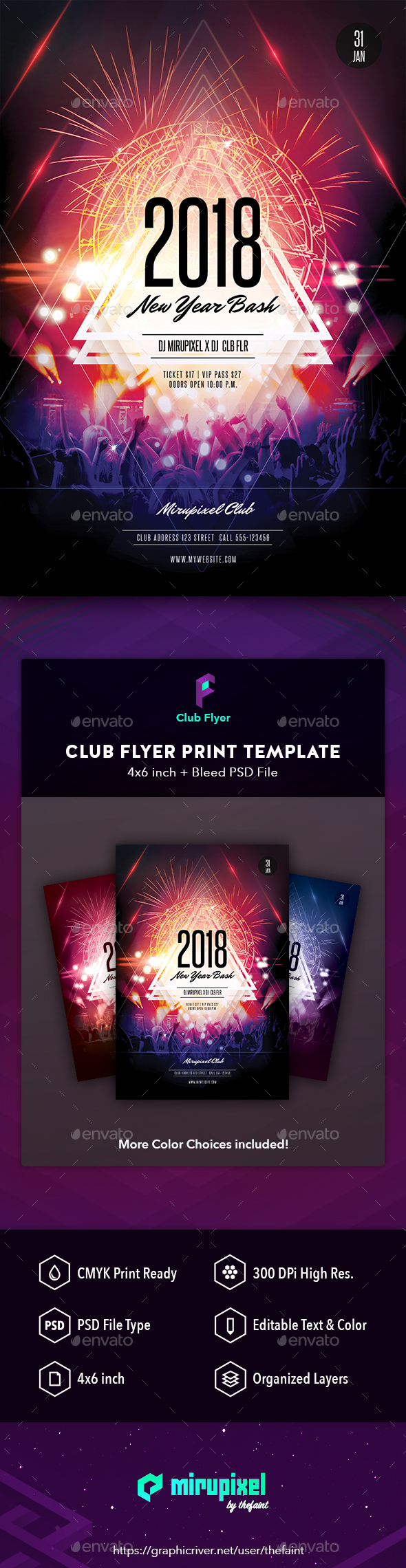 GraphicRiver Club Flyer New Year Bash 21168609