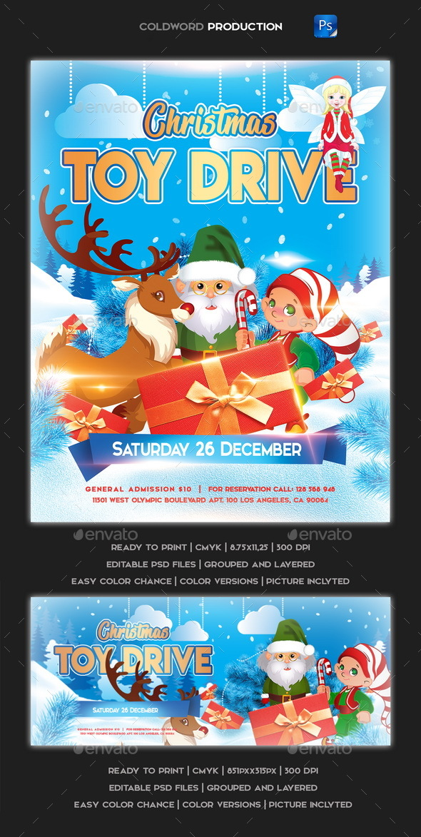 GraphicRiver Christmas Child Flyer 21156718