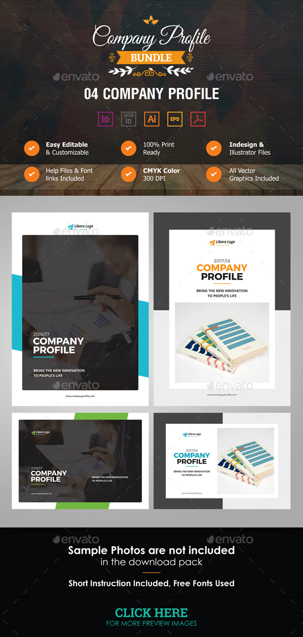 Company Profile Bundle - Corporate Brochures