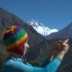 Girl Tourist Makes a Photo of Nature - VideoHive Item for Sale