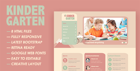 ThemeForest Kindergarten HTML Template 21168701