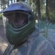 Portrait Young Man in Paintball Mask on Head for Protective in Shooting Game - VideoHive Item for Sale