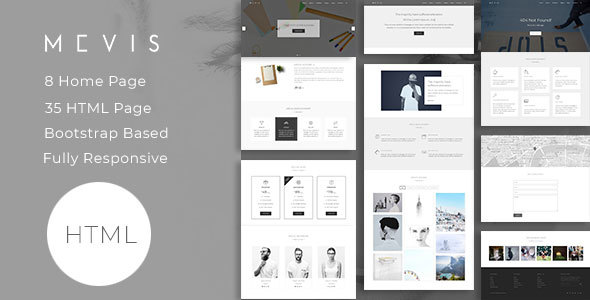 Mevis — Corporate, Portfolio, Photography and Blog template