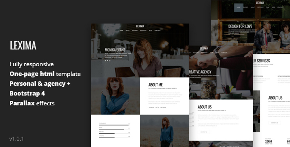 LEXIMA. - Creative OnePage HTML Templates for Personal and Agencies Pages - Personal Site Templates