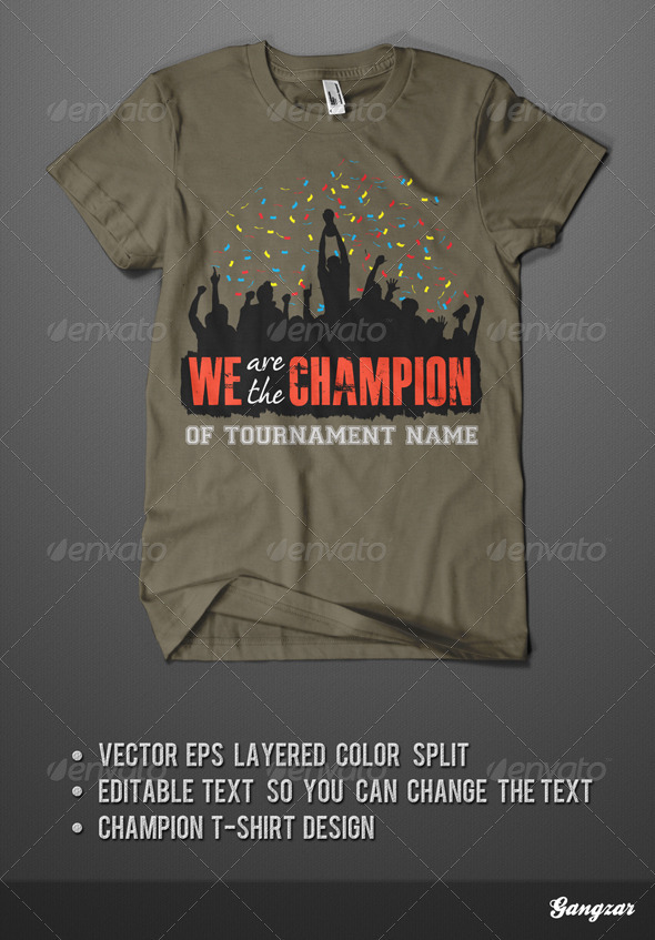 Champion T-Shirt - Sports & Teams T-Shirts