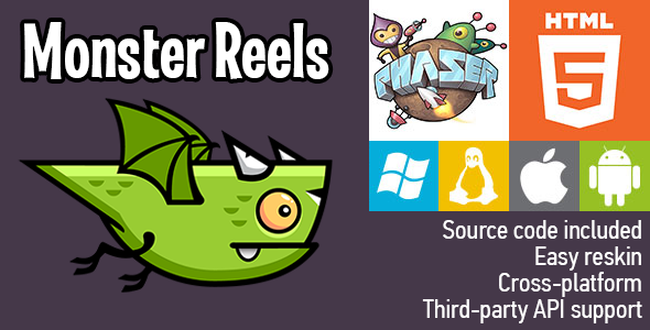 Monster Reels - HTML5 Game - Phaser - CodeCanyon Item for Sale