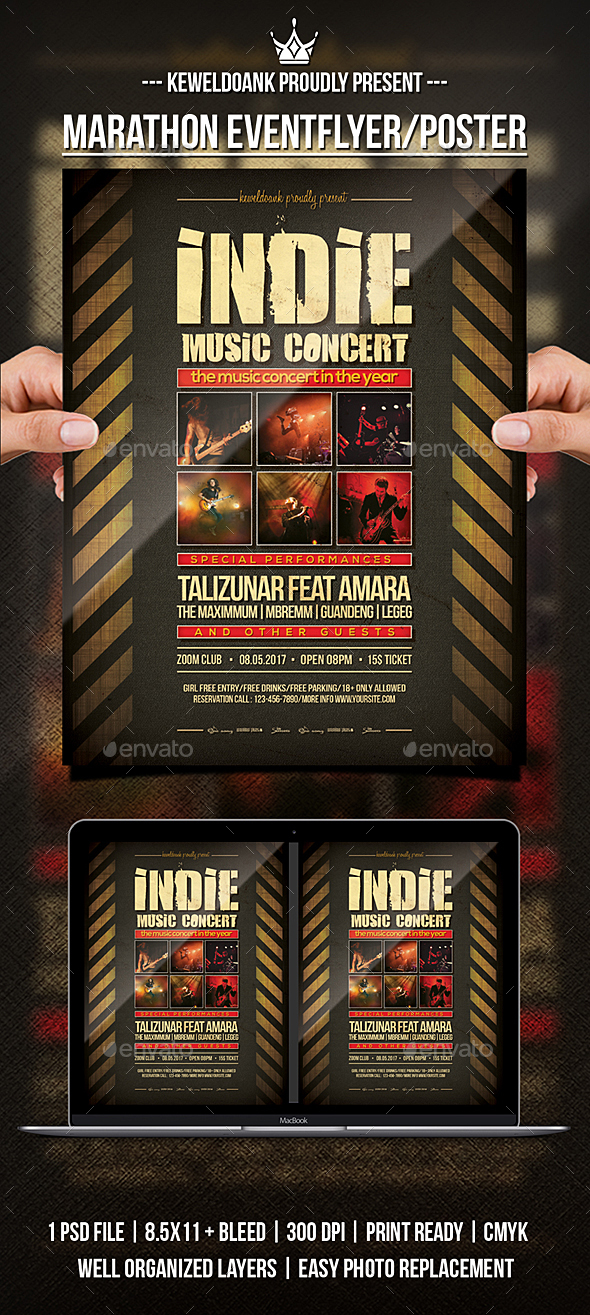 GraphicRiver Indie Concert Flyer Poster 21169047