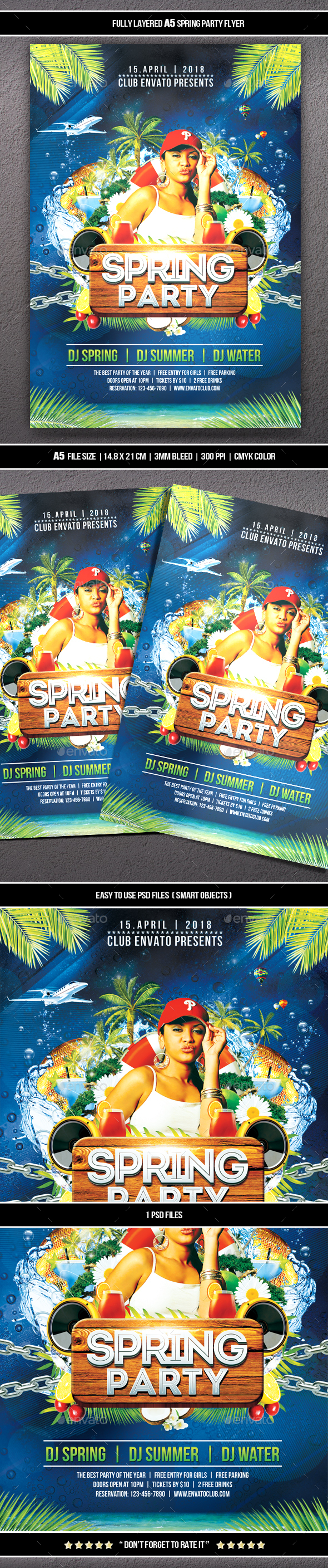 GraphicRiver Spring Party Flyer 21169054