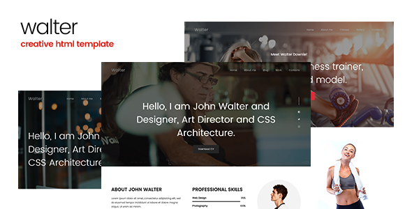 Walter - Creative Personal HTML Template