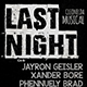 Last Night Minimal Flyer - GraphicRiver Item for Sale