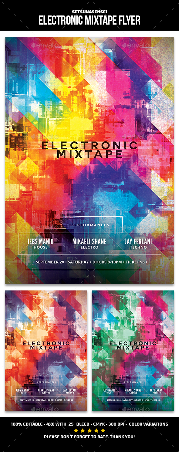 GraphicRiver Electronic Mixtape Flyer 21169232