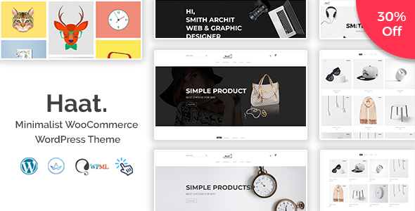 Image of Haat - Minimalist WooCommerce WordPress Theme