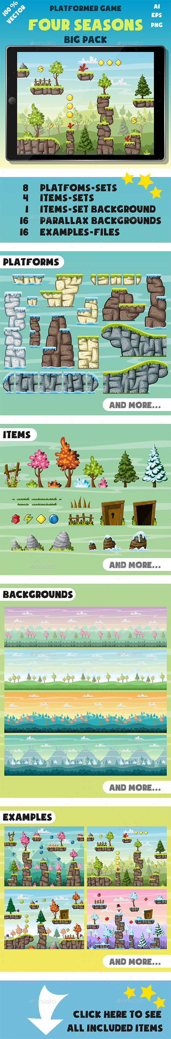 GraphicRiver Platformer Game Pack Four Seasons 21169345