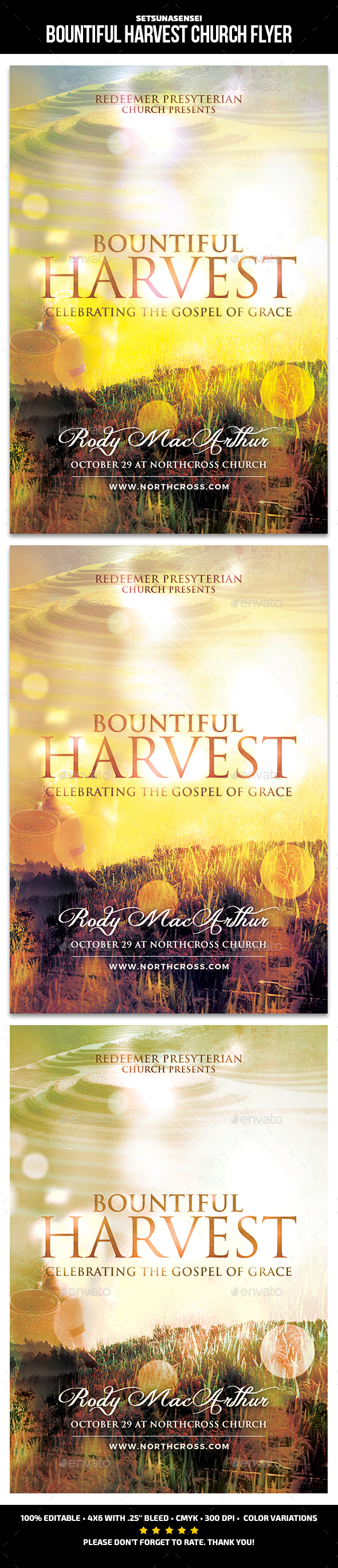 Bountiful Harvest Church Flye - Church Flyers