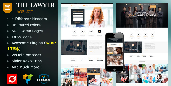 The Lawyer - Lawyer & Law Firm WordPress Theme