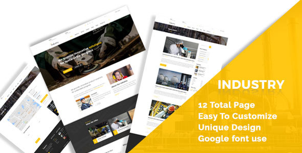 Image of Industry - Industral , Engineering & Factory HTML5 Responsive Template