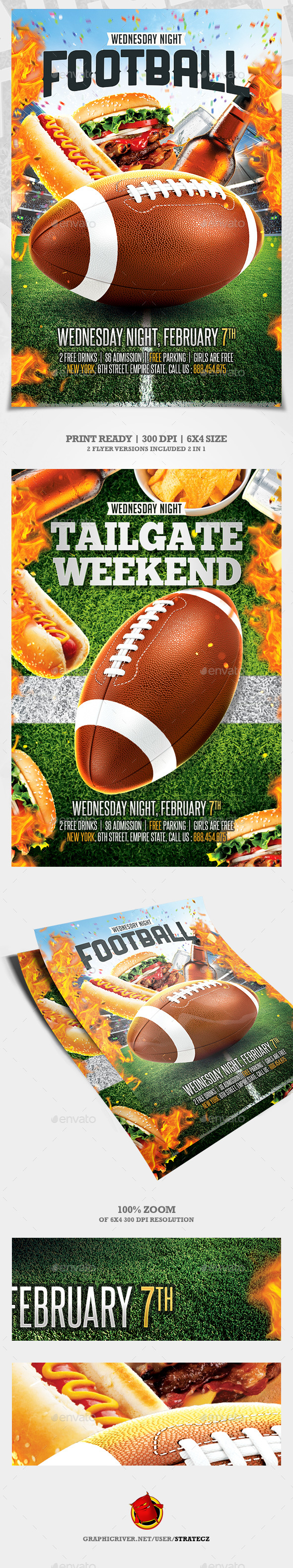 GraphicRiver American Football flyer Tailgate Party 21169628