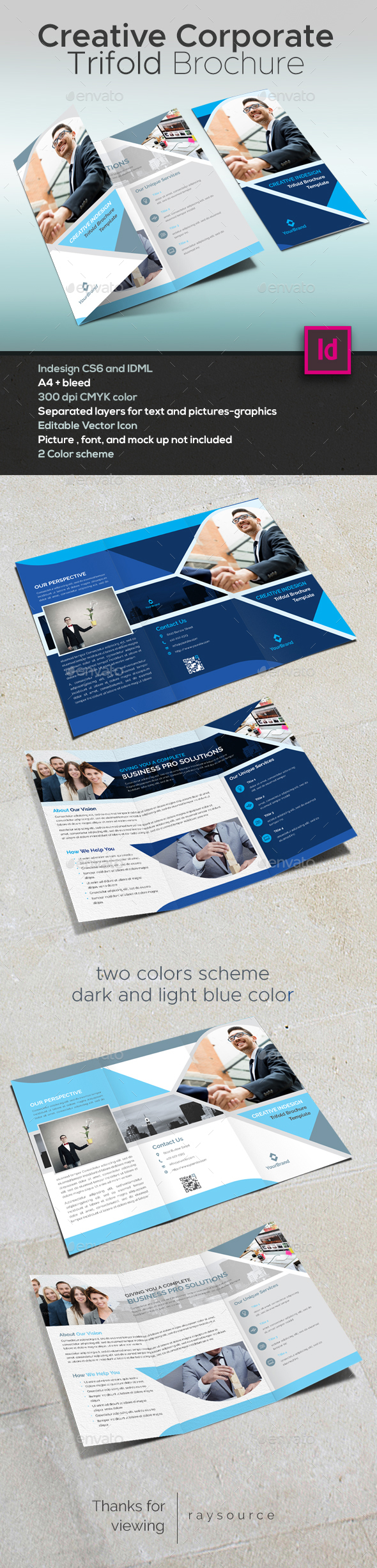 Creative Corporate Trifold Brochure - Brochures Print Templates