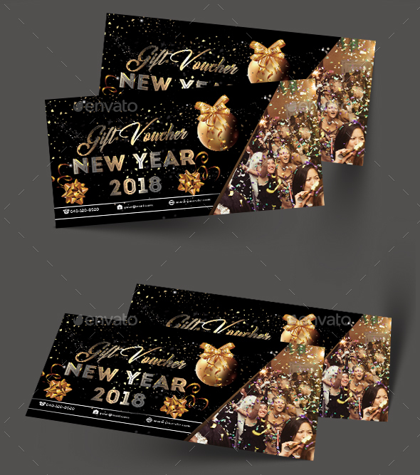 GraphicRiver New year Gift Voucher 21169738