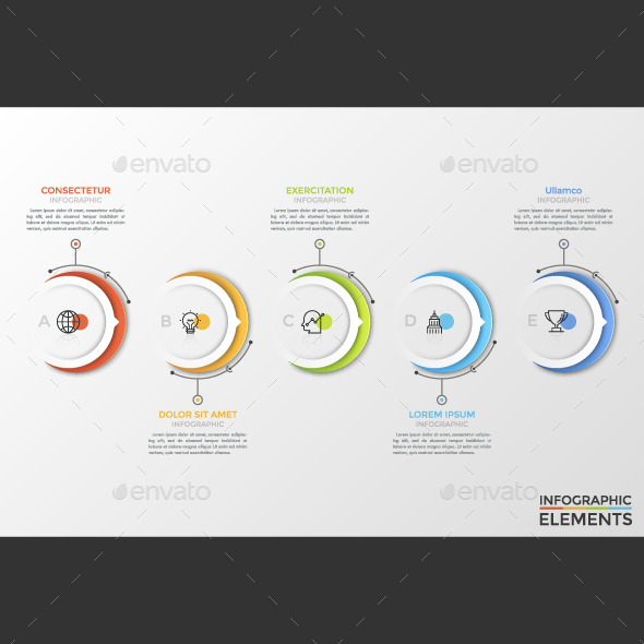 Modern Circle Infographic Timeline - Infographics