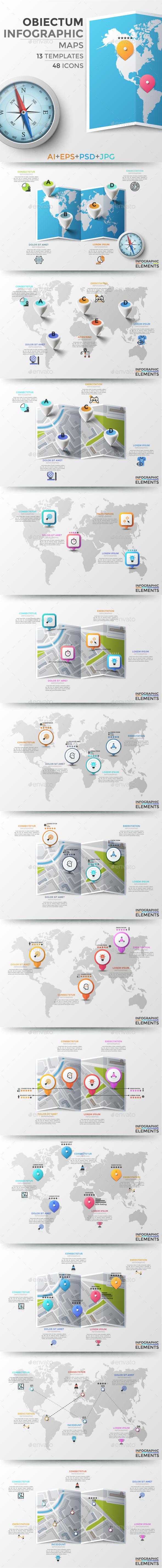 Obiectum Infographic. Maps - Infographics