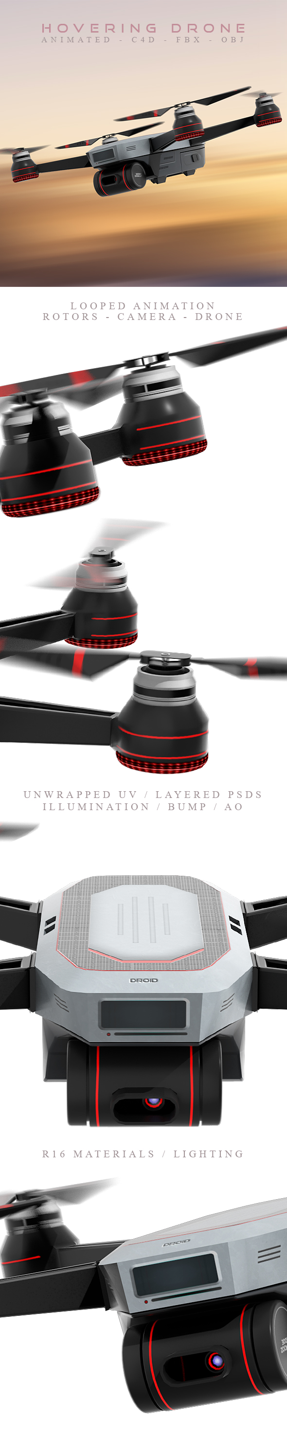 3DOcean Animated Hovering Drone 21161587